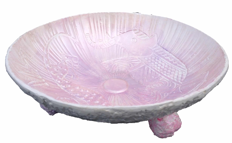 zacht roze schaal